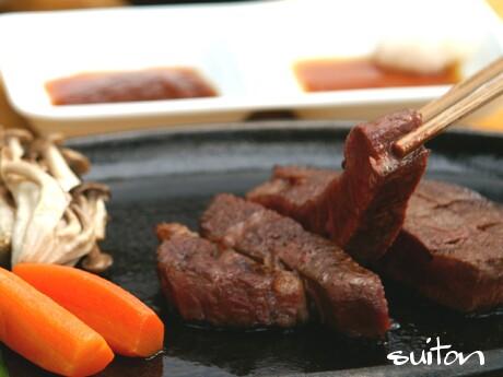 ジャージー牛のステーキ!すてき!!