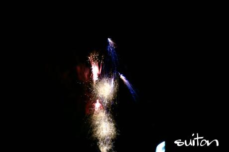 川上の花火です!