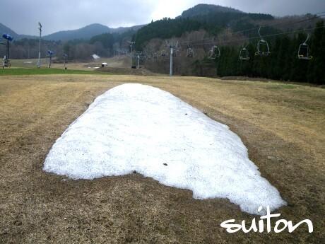 ベアバレースキー場の雪!